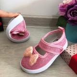 Cumpara ieftin Sandale roz moi cu fundita si sclipici pt fetite bebe 20 21 23 24