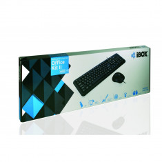 Kit tastatura + mouse iBox Office kit 2 negru