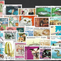 508 - lot timbre Nicaragua