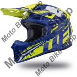 MBS Casca motocross Ufo Plast Intrepid, albastru/galben neon, XL, Cod Produs: HE133XL