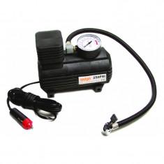 Mini compresor Raider, 9.1 bar, 12 V, 250 PSI, manometru incorporat