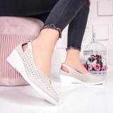 Pantofi dama cu platforma bej Monaco-20