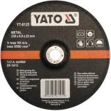 Disc slefuit metal 230 x 22 x 6 mm Yato YT-6125