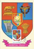 România, LP 928/1976, Stemele judeţelor (A-D), (uzuale), c.p. maximă, Cluj