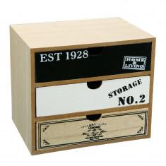 Organizator tip dulap, 20 x 15 x 18 cm, 3 sertare