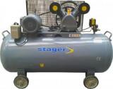 Cumpara ieftin Compresor aer Stager Hm-V-0.6/370L, 4.1 Kw, 370 L, 8 bar, trifazat