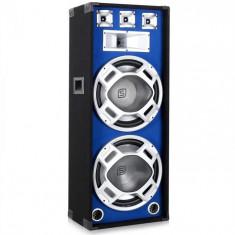 Skytec Subwoofer 2x38cm LED efect albastru 1000W