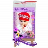 Marturii botez magneti Handmade by Diana Puiu Minnie Mouse MDFM 9