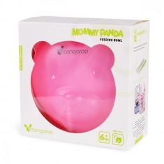 Castron compartimentat Feeding Bowl Mommy Panda Pink
