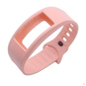Bratara fitness Samsung Gear Fit 2, curea smartwatch silicon SM-R360, roz
