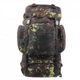 Rucsac MFH BW Tactical Camuflaj Camo Flecktarn 55L 30273V, 65 L
