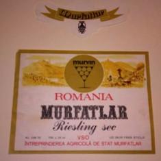 Etichete romanesti vin / eticheta veche romaneasca Murfatlar '70