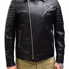 Haina barbati, din piele naturala, marca Kurban, 104-01-95, negru