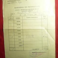 Borderou de Proprietate pt.Titlurile Imprumutul Reintregirii din 1941