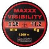 Monofilament maxxx visibility rosu fluo neon 1200m Hakuyo