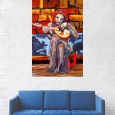 Tablou Canvas, Pictura Femeie Cantand - 20 x 30 cm