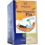 Ceai Turmeric Fin cu Rooibos si Vanilie Ecologic/Bio 18dz