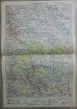 Iasi-Roman-Bacau-Vaslui// harta lito 1928, M. D. Moldoveanu