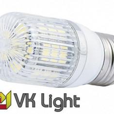 Bec LED E27, Putere 3,8W (45W), 420lm, Lumina Calda, 27 SMD, VoiceKraft