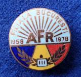 Insigna aniversare 20 ani AFR Asociatia Filatelistilor din Bucuresti EVIDENTIAT