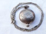 MEDALION argint cu LOCAS SECRET gravat MANUAL piesa de COLECTIE pe Lant argint