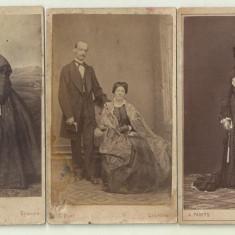 Lot 3 fotografii pe carton C.Diel, A.Panits Craiova - secolul XIX