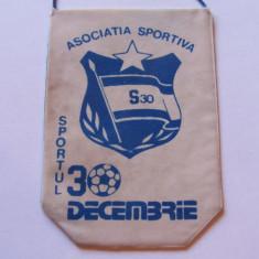 """Fanion fotbal - AS """"SPORTUL"""" 30 DECEMBRIE"""