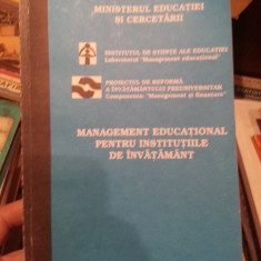 MANAGEMENT EDUCATIONAL PENTRU INSTITUTIILE DE INVATAMANT