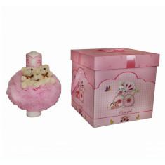 Set lumanare si cutie pentru transport trusou - roz