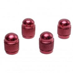 Set 4 Capacele Valve Roti Rosu Rotund, Automax