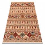 Covor Lână KESHAN franjuri, oriental 7684/53555 bej / teracotă, 200x290 cm, Dreptunghi, Lana