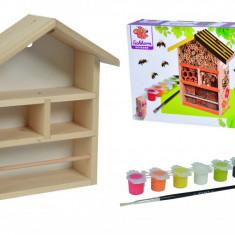 Set creativ de pictat - Casuta albinelor din lemn