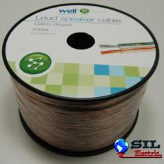 Cablu difuzor transparent 2X1.00mmp, 100m, Well