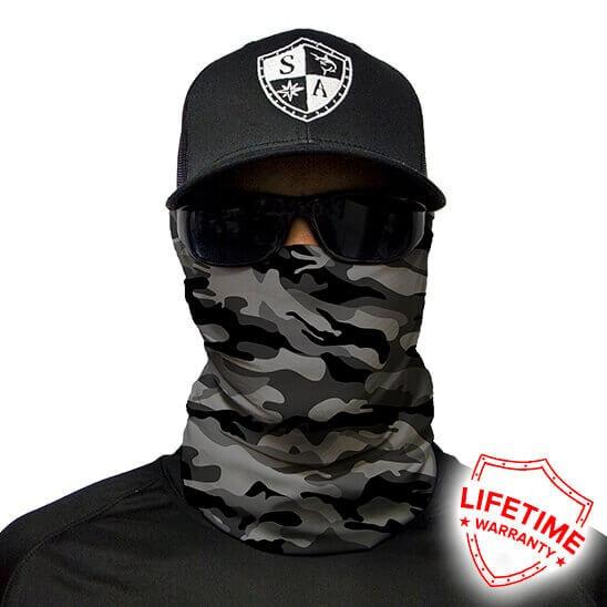 Bandana/Face Shield/Cagula/Esarfa - Grey Military Camo, made in USA