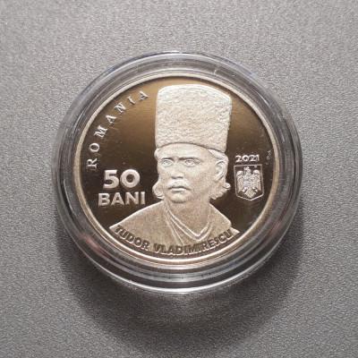 Moneda 50 bani 2021 Tudor Vladimirescu moneda aniversara Proof necirculata unc foto