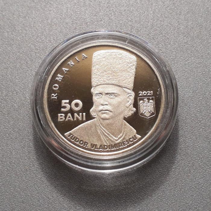 Moneda 50 bani 2021 Tudor Vladimirescu moneda aniversara Proof necirculata unc