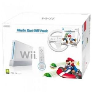 Consola Nintendo WII White + Joc Mario Kart + Volan Wii Wheel + Wii Remote Plus Controller SH
