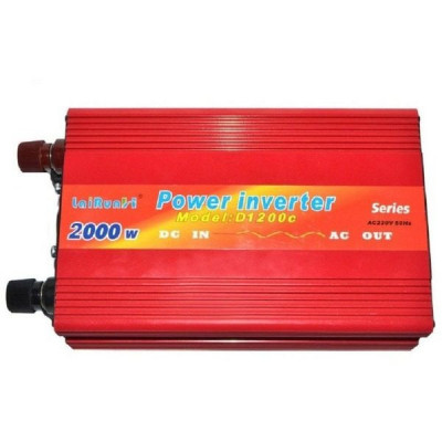 Invertor tensiune 12V-220V Lairun, 2000 Watt si putere continua 1200W foto