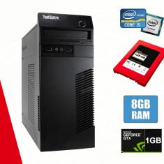 Calculator Lenovo m72 Tower I5-3340 8GB DDR3 HDD 320GB SSD 128GB 1GB Nvidia 605