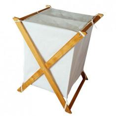 Cos depozitare pliabil, Organize Homs, natur/alb, 35 X 45 X 75 cm