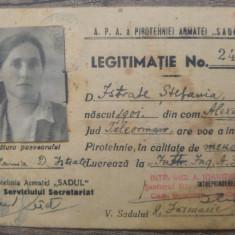 Legitimatie APA a Pirotehniei Armatei Sadul/ 1943