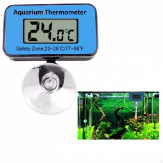 Termometru Digital pentru Acvariu cu Ventuza pe Baterii
