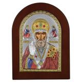 Cumpara ieftin Icoana argint Sfantul Nicolae 10x14cm COD: 3057