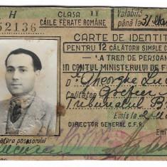 Abonament CFR cu autograf - anul 1948 - Gh. N. Lucianu de la Tribunalul Brăila