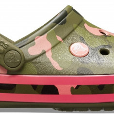 Saboți Adulti Unisex casual Crocs Crocband Seasonal Graphic Clog, Verde, 36.5 - 39.5