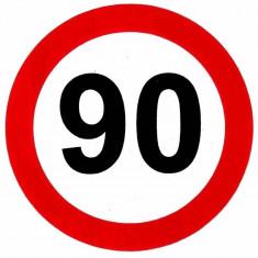Sticker limita viteza 90 km/h