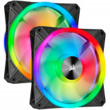 Kit 2 Ventilatoare Corsair iCUE QL140 RGB 140mm Black