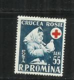 ROMANIA 1957 - SAPTAMANA CRUCII ROSII, MNH - LP 438, Nestampilat