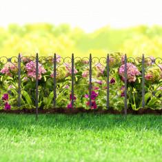 Bordura pt. pat de flori / gard - 61 x 30 - Negru Best CarHome