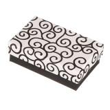 Cutie de cadou pentru set - neagră cu ornamente albe